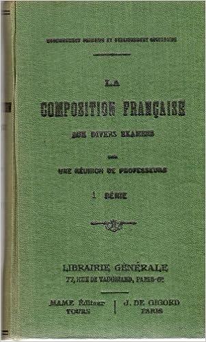 La Composition Francaise Aux Divers Examens 1ere Serie