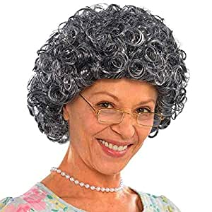 Amscan Granny Curly Wig Costume and Accessories