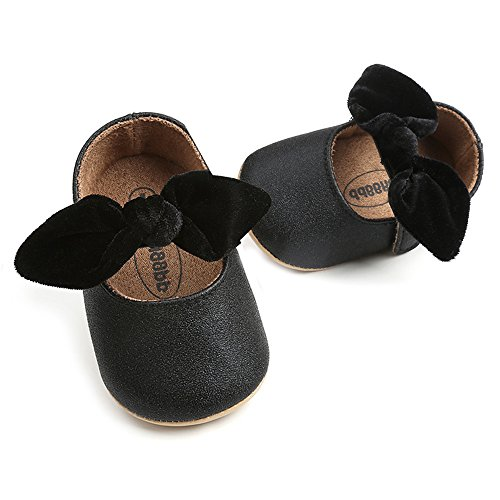 - Baby Sneakers - Infant Boys Girls Non-Slip Soft Soled Toddler First Walkers Angel Wing Crib Shoes (M: 4.73 inch(6-12 Months), AB-Black)