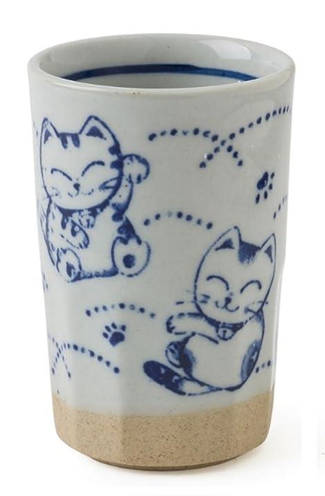Miya Japanese 9oz Fortune Cat Drinking Tumbler / TeaCup
