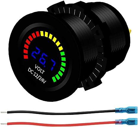 Kkmoon Dc 12v Auto Motorrad Boot Digitale Led Panel Spannung Anzeige Volt Meter Voltmeter Auto