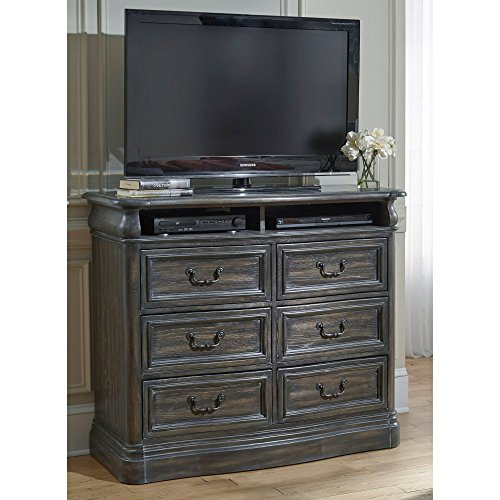 Terracina Distressed Smokey Oak Media Chest (Distressed Media Chest)