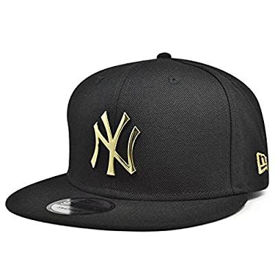 New York Yankees METAL BADGE Snapback New Era MLB Hat - Black/Gold by New Era