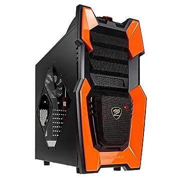 Cougar Challenger Midi-Tower Caja de Torre - Gaming Case - Recinto - Game Box - Diseño Agresivo - Amplia Gama de características - Negro/Naranja: Amazon.es: ...