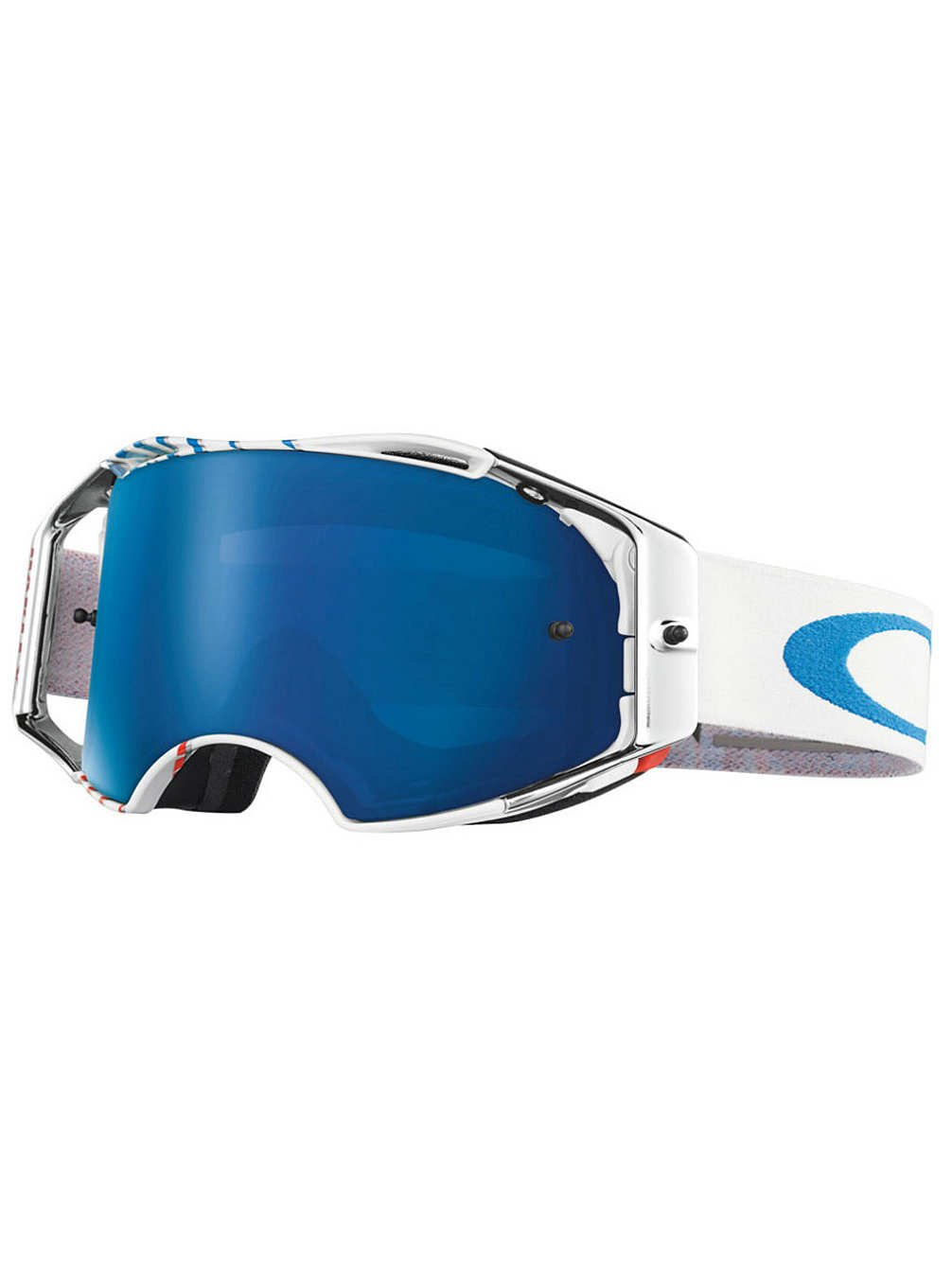Oakley Airbrake MX Men's Goggles (RV High Octane RWB Frame/Black Ice Iridium Lens)