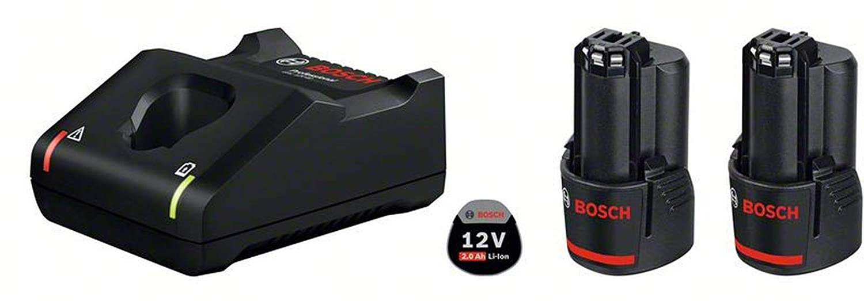 Bosch Professional 1600A019R8 - Set starter 2 x GBA 12V 2.0Ah + GAL 12V-40 Professional, in scatola di cartone