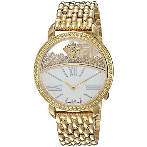 Versace Women's 'Krios' Swiss Quartz Stainless Steel Casual Watch, Color Gold-Toned (Model: VAS060016)