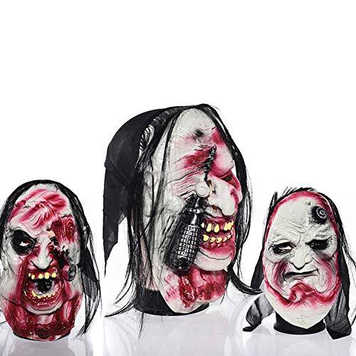 Jke pan 3Pcs Latex Halloween Creepy Mask for Carnival Party,Horror Theme Bar,Transvestite Prom]()