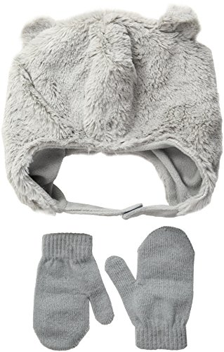 Toby & Company Toddler Boys Faux Fur Critter Trapper 2 Piece Set, Cloud, Toddler Toby Set