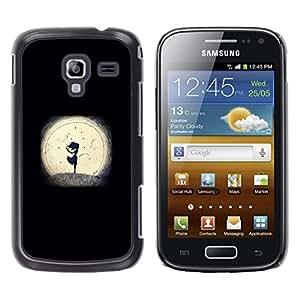 iKiki Tech / Estuche rígido - Night Minimalist Girl Romantic - Samsung Galaxy Ace 2 I8160 Ace II X S7560M