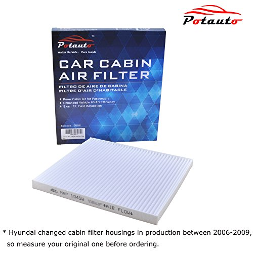 POTAUTO MAP 1045W Cabin Air Filter Replacement compatible with HYUNDAI, Accent, Elantra, Genesis Coupe, Veloster, Tucson, KIA, Forte, Rio, Rondo, Sportage