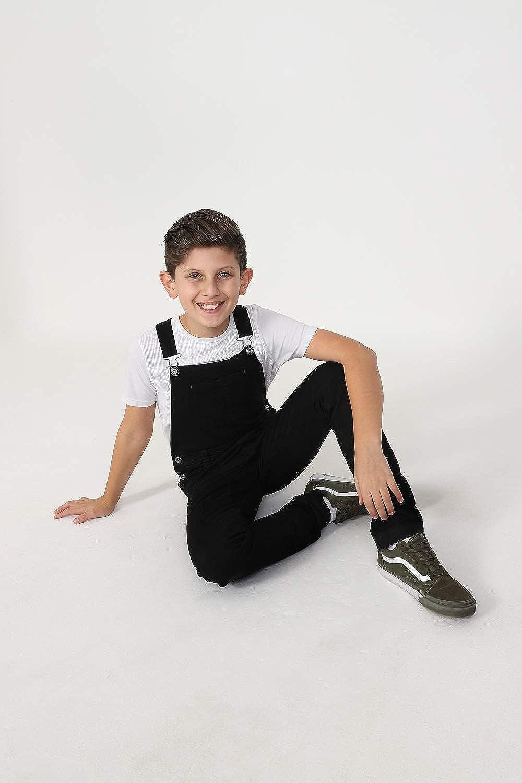 Wash Clothing Company Jungen Jeans Latzhose Schwarz Slim Fit Kinder Latzhose 4 6 8 10 12 14 Jahre MATTHEWBLACK