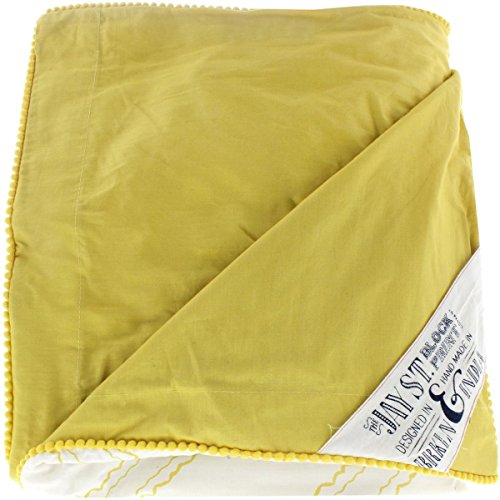 (Jay St. Block Company West Elm Evans 3PC Decorative Duvet Cover Set Yellow Queen)