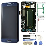 Display Touch Screen (AMOLED) Digitizer Assembly with Frame for Samsung Galaxy S6 Edge+ (5.7 inch) T-Mobile (G928T) (for Mobile Phone Repair Part Replacement) (Free Repair Tool Kits) (Black Sapphire)
