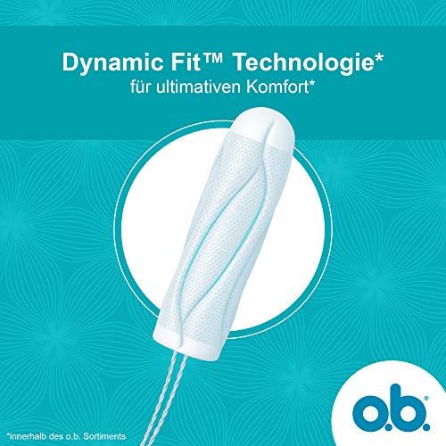 o.b. ProComfort Mini, Tampons mit Dynamic Fit Technologie für ultimativen Komfort* & zuverlässigen Schutz gegen Auslaufen (1 x 56 Stück)