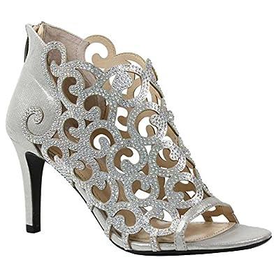 1505219860 J.Renee Women's Mcwayfalls Dress Pump (Silver Satin, 8 M US)
