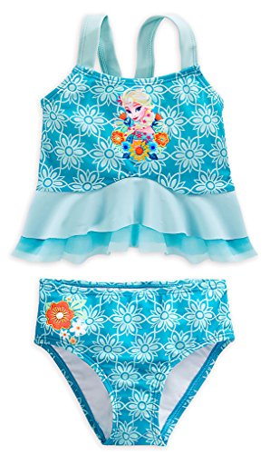 Disney Store Big Girls' Frozen Elsa Deluxe Swimsuit, Size 9/10