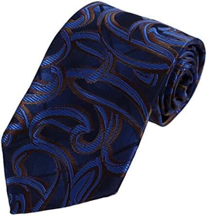 DAA7B13-15 Birthday Gift Paisley Tie For Men Microfiber Comfort Neckwear By Dan Smith