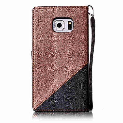 para Galaxy S6 Edge Funda Samsung S6 Edge Carcasa Wallet Case Suave PU Leather Cuero Cubierta Impresión Libro - Sunroyal® Ultra Slim Case Flip Cover Empalme Contraportada Cierre Magnético Función Sopo A-01