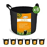 Sonice Set of 6 Pack 3 Gallons Grow Bags by, Aeration...