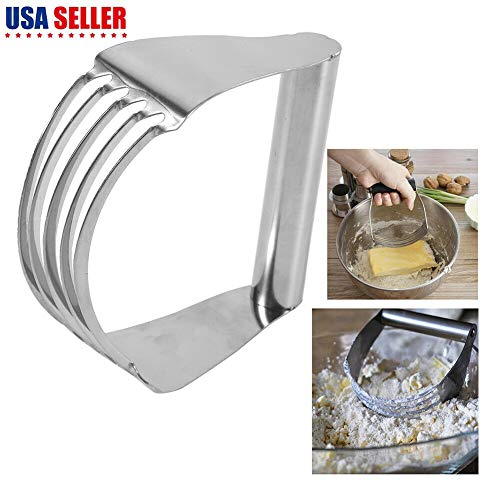 Stainless Steel Pastry Dough Cutter Blender Flour Mixer Whisk Kitchen Craft US
