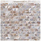 Santorini 12 in. x 12 in. x 3 mm Glass Mesh-Mounted Mosaic Wall Tile