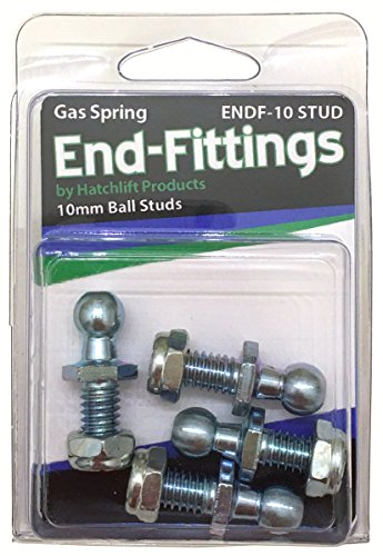 - Hatchlift ENDF-10-STUD 10mm Ball Studs w/nyloc Nuts