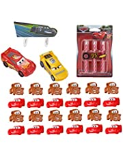 Disney Cars 3 Ahead of the Curve Officially Licensed Cake Topper with 24 Mater and Lightning McQueen Cupcake Toppers and 6 Cars Character Candles