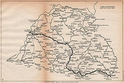 Romania Cartina Stradale.Romania Vintage Cartina Stradale Regele Carol Ii Oradea Brasov 1938 Old Antique Mappa Vintage Stampato Mappe Di Romania Amazon It Casa E Cucina