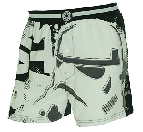 Star Wars Mens Storm Trooper Button Fly Colorblock Boxers Black S - Colorblock Boxer Brief