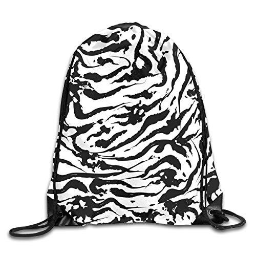 - Leopard Tiger Zebra Print Cute Gym Funky Drawstring Bags Travel Backpack Tote School Rucksack