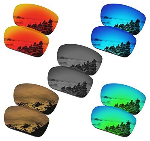 SmartVLT Set of 5 Mens Replacement Lenses for Oakley Turbine Sunglass Combo Pack S02