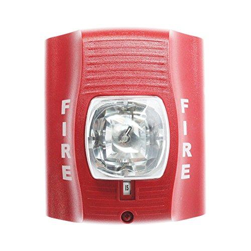 System Sensor SR SpectrAlert Wall-Mt Selectable Strobe 12/24V, Red