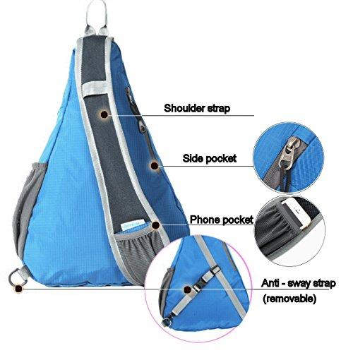 Amazon.com : Tapp C. Cross Body Light Backpack Sling Bag - Black : Sports & Outdoors