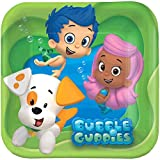 American Greetings Bubble Guppies 7'' Square Plate, 8 Count, Party Supplies Novelty