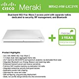 Cisco Meraki MR42 Cloud-Mng'd Wless AP + 3yr of Enterprise License and Support