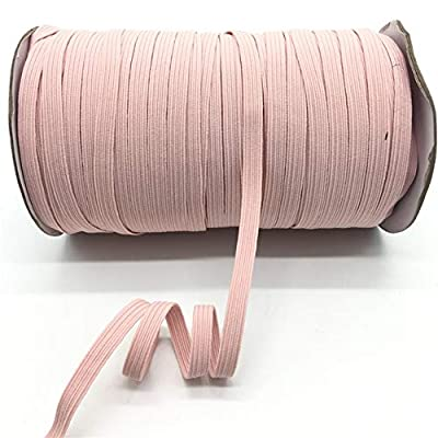 Jammas 5Yards/lot 7mm Elastic Ribbon Multirole Thickening Satin Elastic Spandex Band Trim Sewing Ribbon Garment Accessories Lace Trim - (Color: 22): Garden & Outdoor