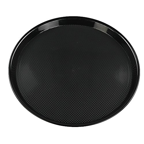 Ramddy Black Round Serving Trays, Set of 4 ()