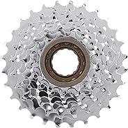 Bike Freewheel, Chromeplate Mountain Bike Cassette Rear Free Wheel Replacement Accessory 5/6/7/8/9/10-Speed FW