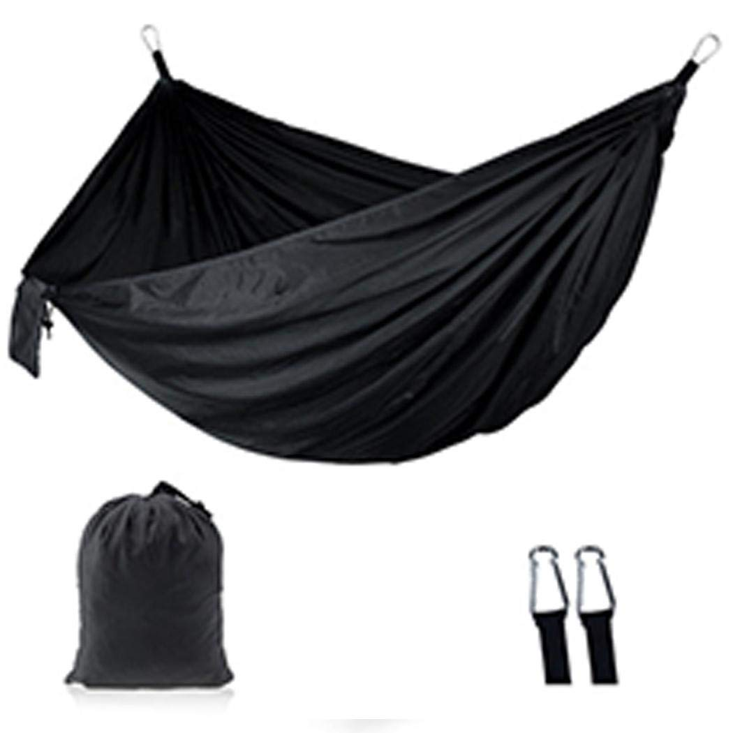 nurrat Portable Outdoor Camping Double Hammock 210T Parachute Nylon Indoor Casual Swing Hammocks