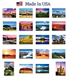 THE WORLD postcard set of 20. Post card variety pack of various countries views postcards. Made in USA.