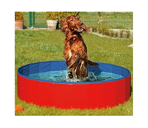 FurryFriends Foldable Dog Pool - Folding Dog/Cat Bath Tub - Collapsible Pet Spa Whelping Box Large...