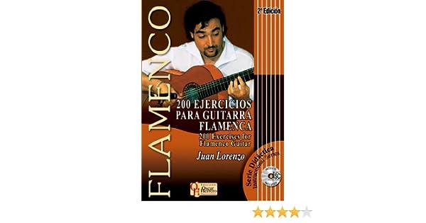 200 EJERCICIOS PARA GUITARRA FLAMENCA Libro de Partituras + CD ...