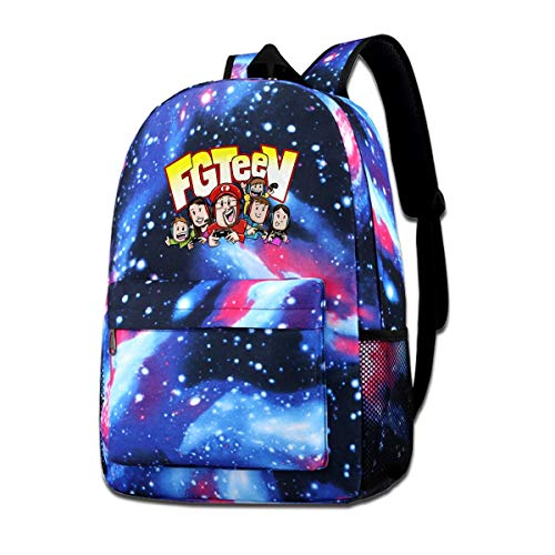 Travel Laptop Bag Let's Play with_FGTV Galaxy Starry Sky Satchel Strong Storage Student College Shoulder Bag Camping Backpack for Men Women (15.7x11.0x3.9 Inch)]()
