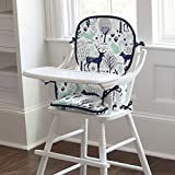 Carousel Designs Navy and Mint Woodlands High Chair Pad