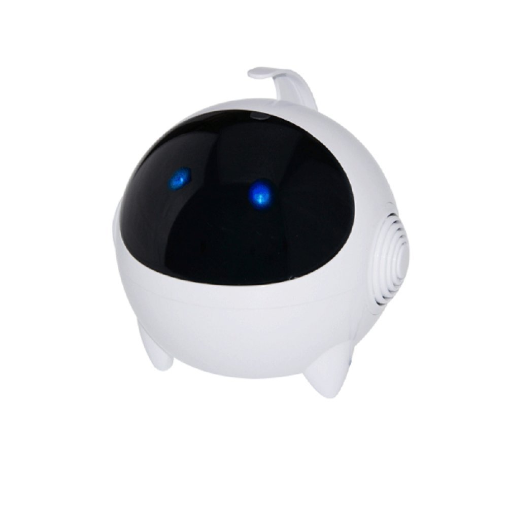 SSJ Robot astronaut Rechargeable Portable Multimedia Speaker - Works with your Desktop PC , Laptop , Smartphone & Other Multimedia Devices (White)