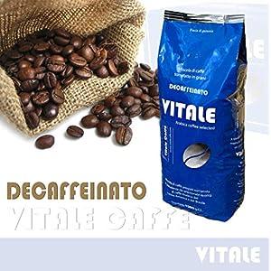 CAFFE IN GRANI 1 Kg. Vitale Caffè miscela DECAFFEINATO Crema di Pregiata Arabica