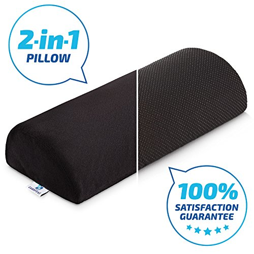Foot Cushion - Half Cylinder Design- Non Slippery Cover- Stuffed With Velvet Soft Fabric- Removable& Washable- For Home, Office & Traveling- Relieves Tension on Feet And Legs-LeanFirst