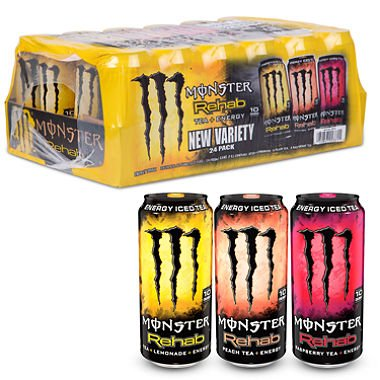 Rehab Pack Accessory (Monster Energy Rehab Variety Pack (15.5 oz. cans, 24 ct.) SCS)
