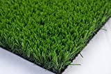 Grancy Indoor/Outdoor Green Artificial Grass a Natural Lawn Landscape Fake Grass Artificial Anti-wear Turf Tiles-Spring color(2'x3.3')